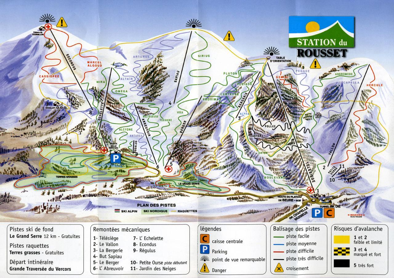 Station de ski Col de Rousset (20min)
